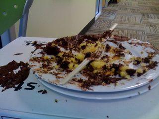 Cake shrapnel